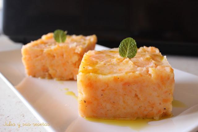 Puré de patatas y zanahorias. Julia y sus recetas