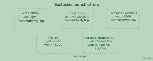 Moto X Play Launch Day Offers on Flipkart