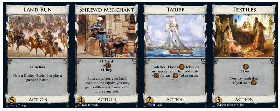 Land Run, Shrewd Merchant, Tariff, and Textiles