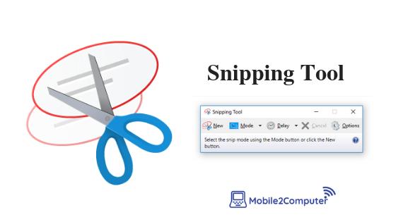 Taking screenshot on Windows using Snipping tool