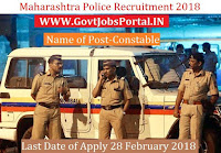 Maharashtra Police Recruitment 2018 – 83 Constable