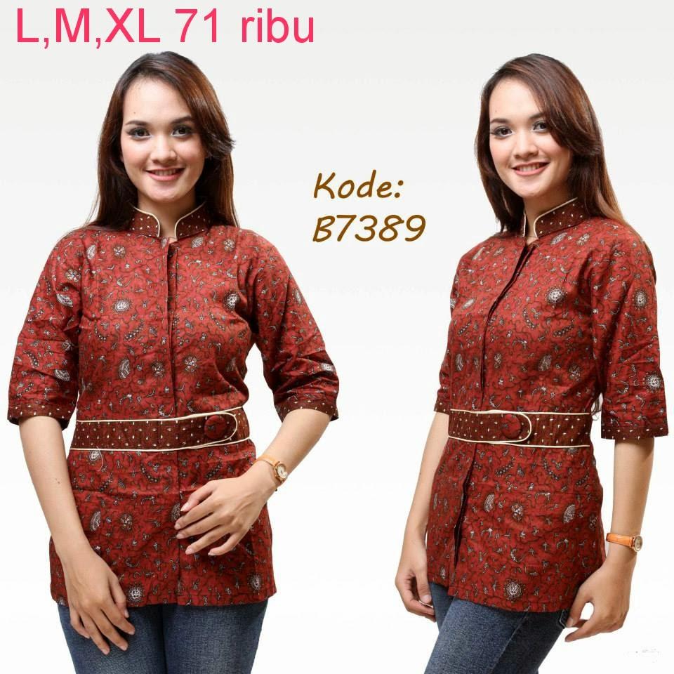 Baju Batik Guru Perempuan: Model Baju Batik Kantor