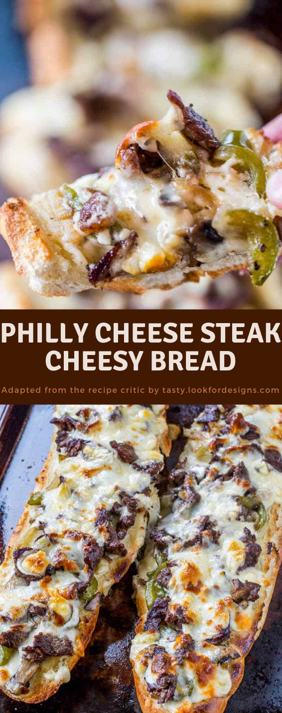 Philly Cheese Steak Cheesy Bread Recipe