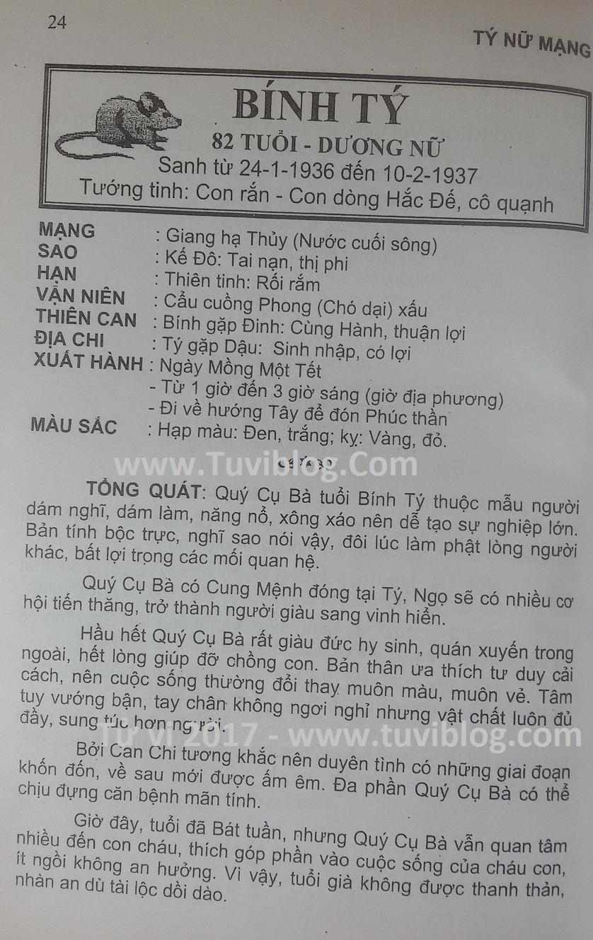 Tu vi 1936 Binh Ty nam 2017