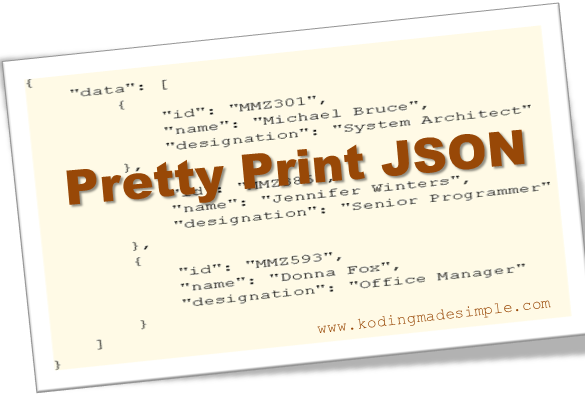 how to pretty print json in php