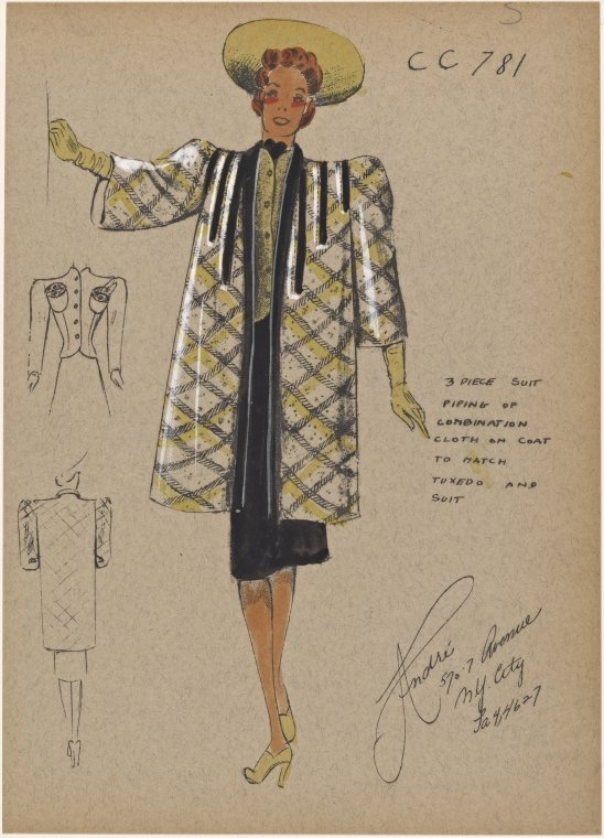 03-3-Piece-Suit-New-York-Public-Library-André-Studios-Fashion-Vintage-Illustrations-and-Drawings-from-the-1930s-www-designstack-co