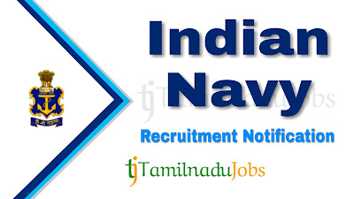 Indian Navy Recruitment notification 2019, central govt jobs in defence, govt jobs for 12th pass