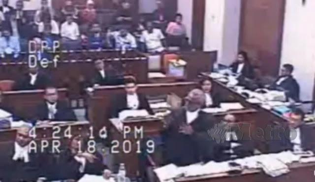 Rakaman CCTV bicara Najib tular