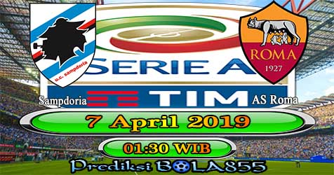 Prediksi Bola855 Sampdoria vs AS Roma 7 April 2019