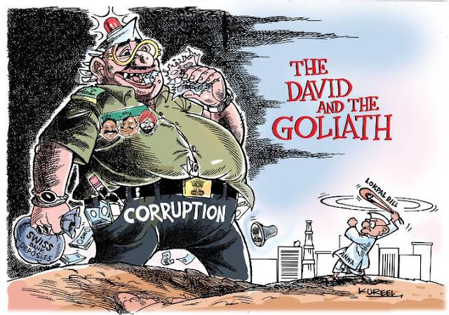 Anna Hazare Cartoons India Against Corruption By Kureel