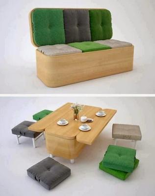 inspirasi Desain Meja Makan Multifungsi yang super keren