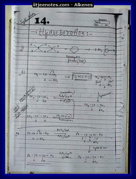Alkenes Notes4