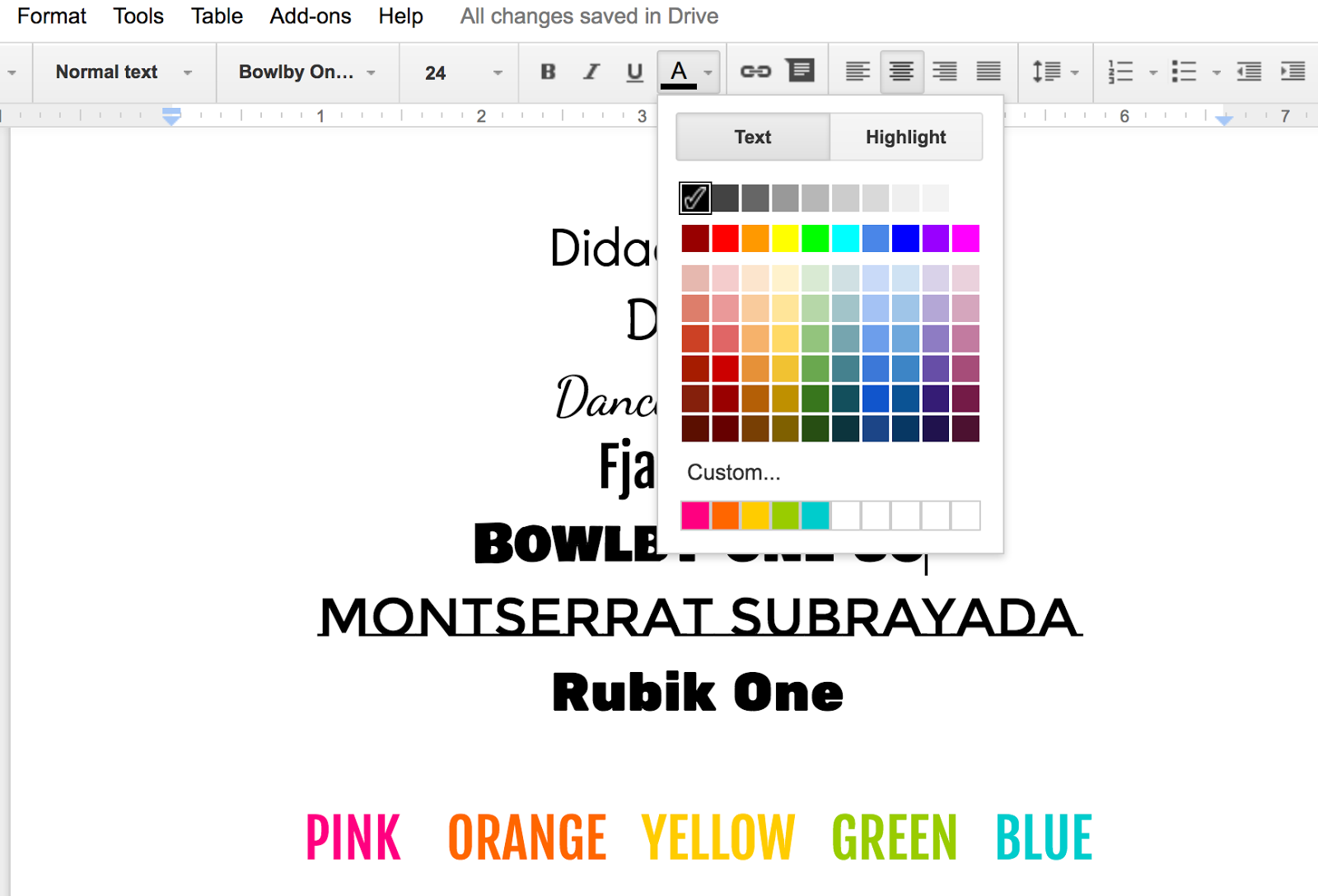 how to write in the margins in google docs