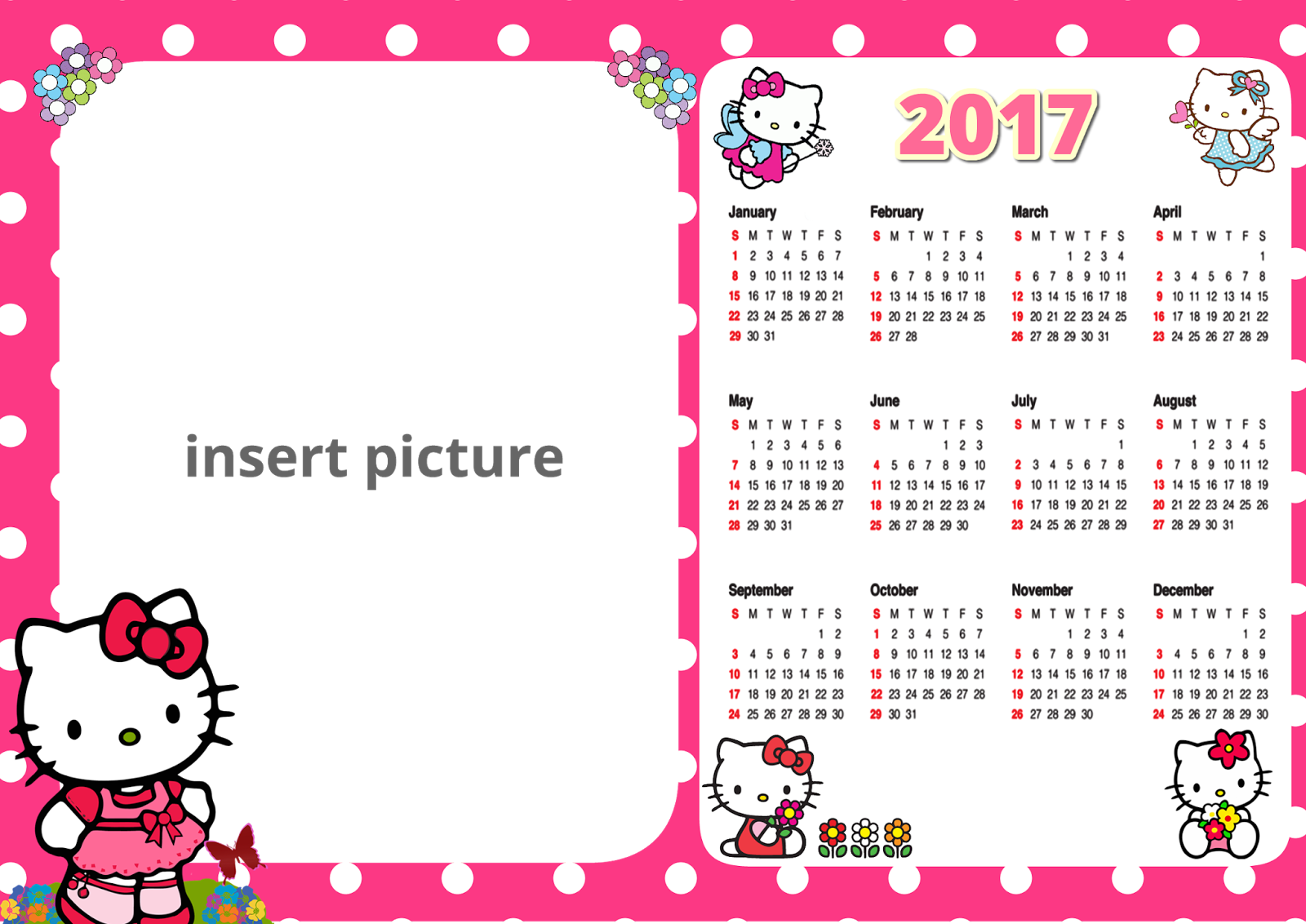 Blank Calendar Cartoon : Printable write in calendar autos post
