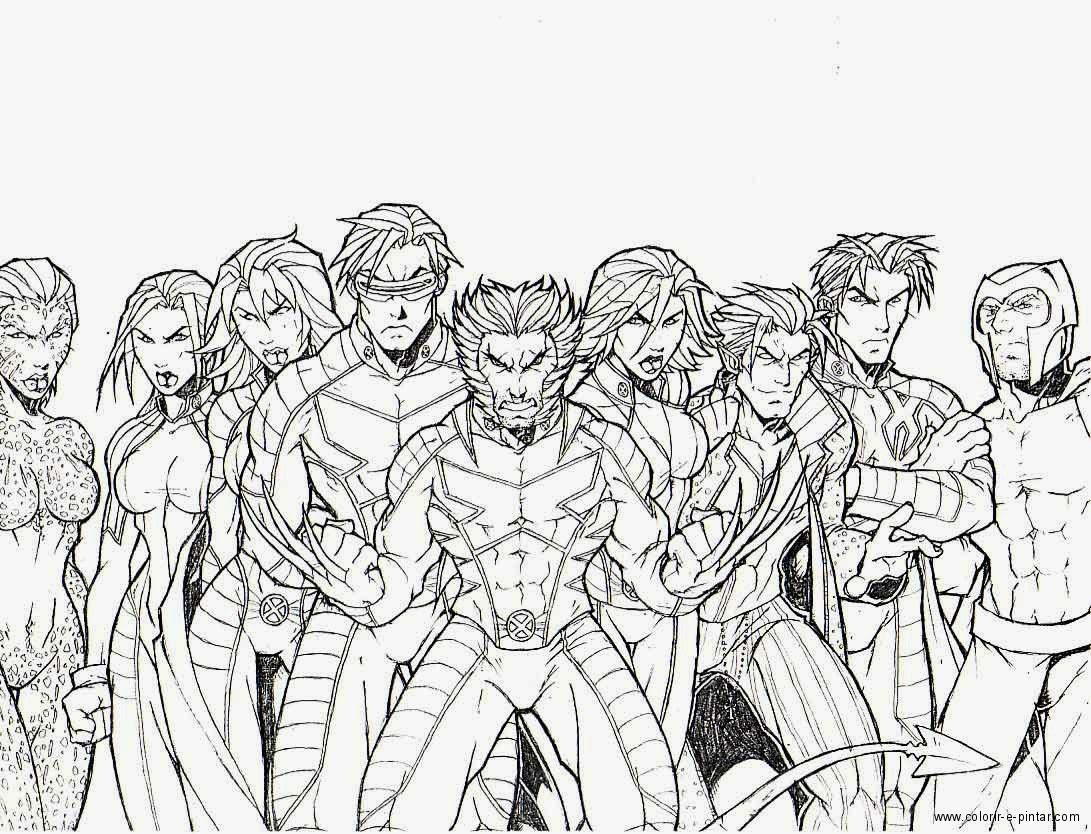 Baú Da Web: Desenhos Do X-Men Para Colorir