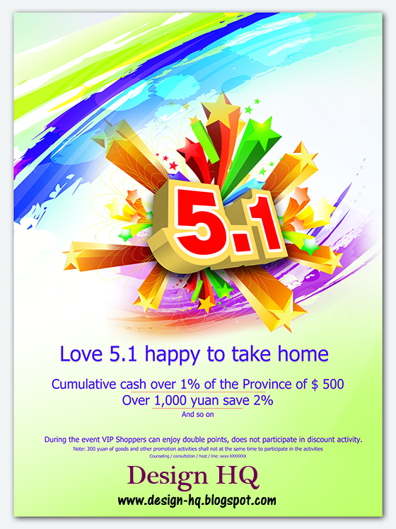 5 1 Happy Poster Design PSD material | Download Free Photoshop PSD