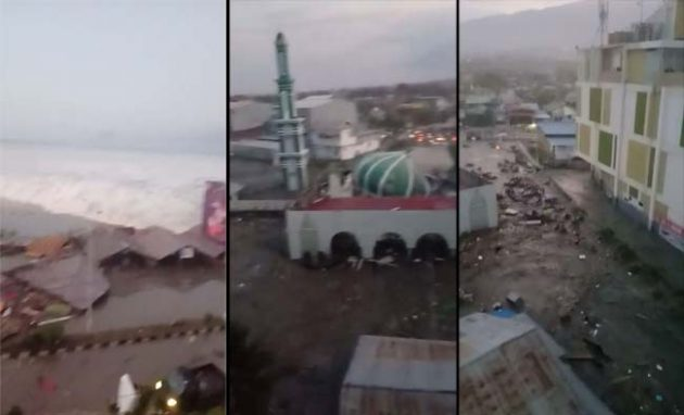Video Tsunami Yang Melanda Palu Setelah Gempa 7,7 Skala Richter