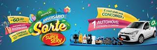 Promoção Supermercados SuperServ 2017 Aniversário da Sorte REX