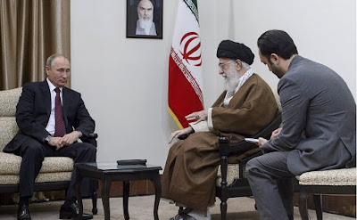 Russian President with Supreme Leader and spiritual leader of the Islamic Republic of Iran.
