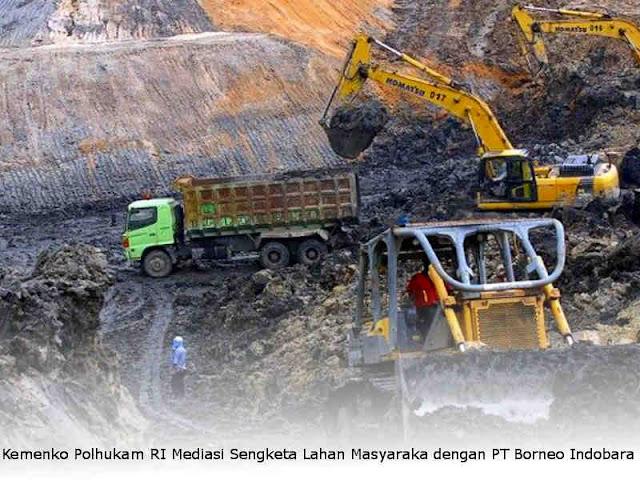 Kemenko Polhukam RI Mediasi Sengketa Lahan Masyarakat Hati'if dengan PT Borneo Indobara