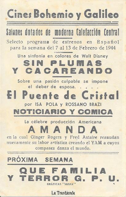 Programa de Cine - Amanda, La Paciente Peligrosa - Fred Astaire - Ginger Rogers