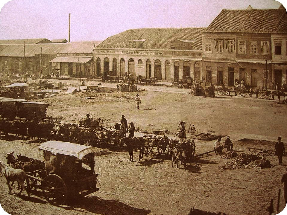 Porto Alegre: Mercado Público, em 1890