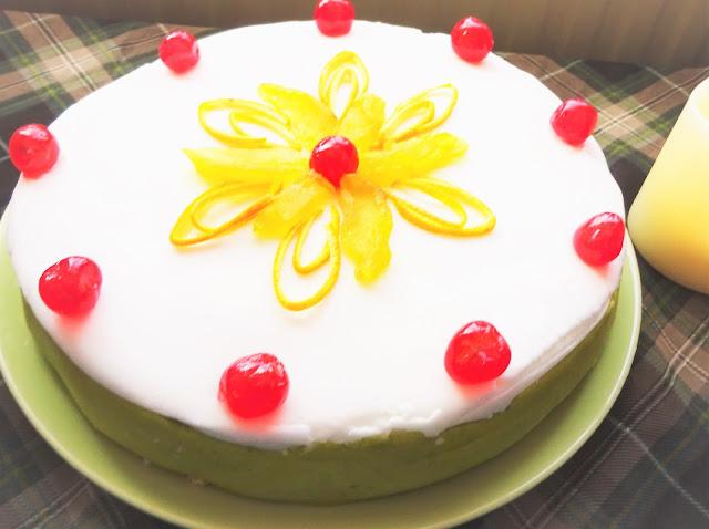 cassata-siciliana-recipe-cake-Italian-dessert-marzipan-sponge-cherries-orange-chocolate-chips-glaced -fruit-