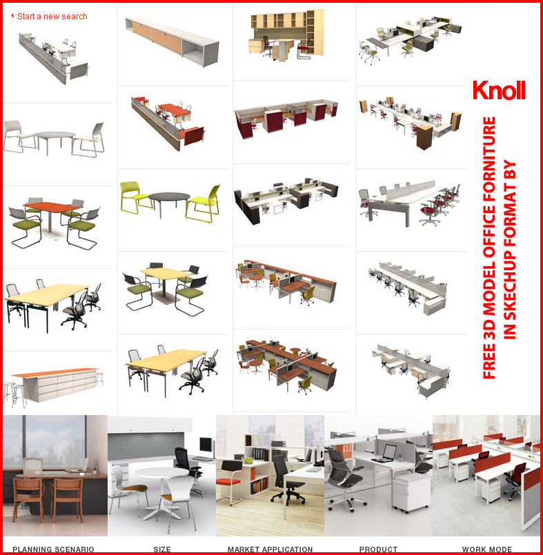 SKETCHUP TEXTURE: 3D MODELS OFFICE FURNITURE