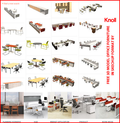 office sketchup model by knoll