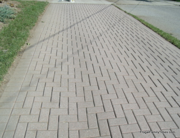 How to make a weed free brick driveway that stays that way perfect driveway with no weeds after sweepster solutioingenieria Image collections