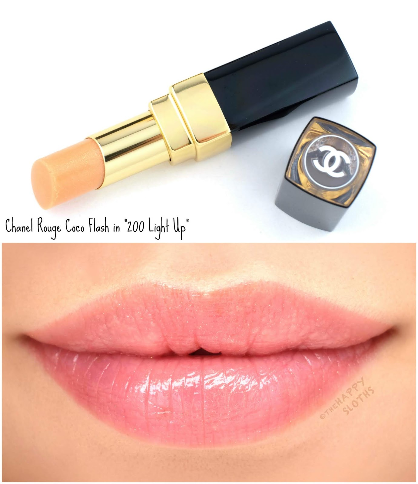 """Chanel   Rouge Coco Flash Top Coat in """"200 Light Up"""": Review and Swatches"""