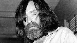 Convicted murderer Charles Manson is photographed during an interview with television talk show host Tom Snyder in a medical facility in Vacaville, Calif. on June 10, 1981. (AP)