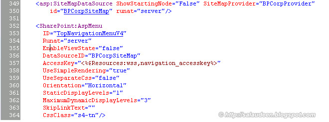 Consistent Top Navigation Menu across All site collections in SharePoint 2010 - SharePoint Diary