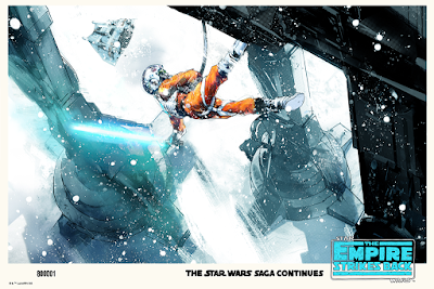 "Star Wars: The Empire Strikes Back ""That Armor's Too Strong For Blasters"" Variant Edition Screen Print by Jock x Mondo"