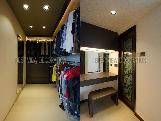 九龍站漾日居The Waterfront 衣帽間 walk-in closet 室內設計