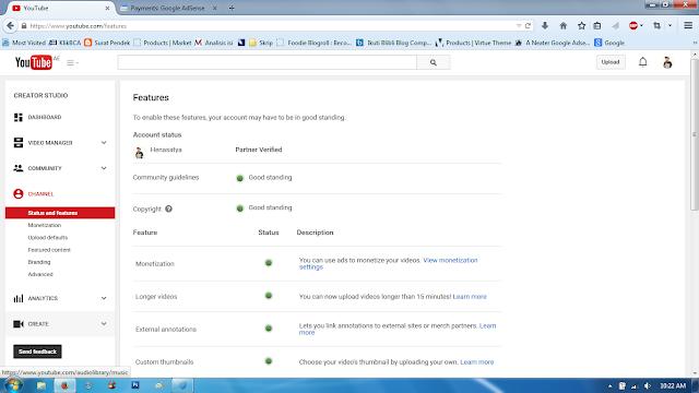 cara menonaktifkan monetize youtube