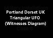 Portland Dorset UK Triangular UFO (Witnesses Diagram)