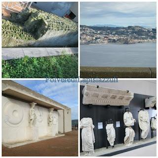 Alcuni pezzi del museo dove si trovano statue romane del foro Augusteo