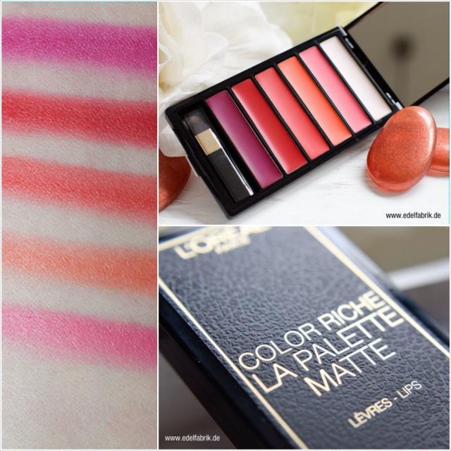 L'Oréal Color Riche, Verpackung, La Palette, Swatch