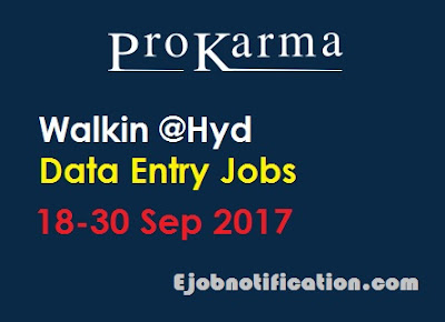 Data Entry Operator WalkIns jobs in Hyderabad Freshers Prokarma Softech