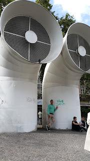 Exterior del centro Pompidou de Paris