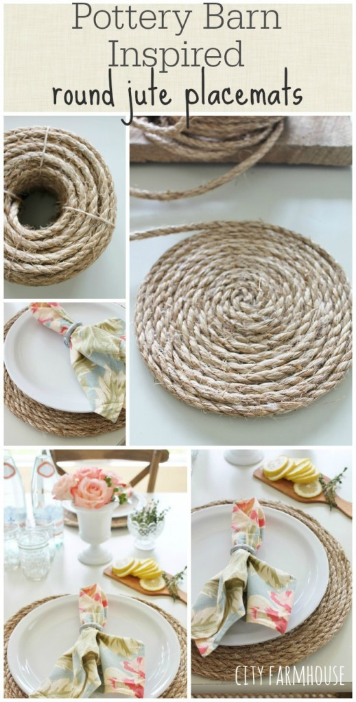 POTTERY BARN INSPIRED JUTE PLACEMATS- City Farmhouse