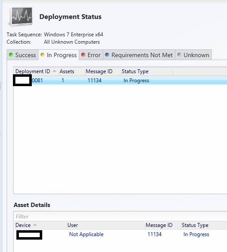 OS deployment monitoring in ConfigMgr 2012 5