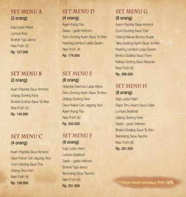 Daftar Harga Menu Ta Wan