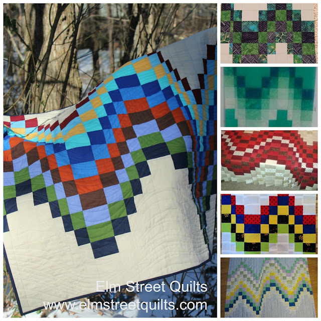 Bargello Quilts in progress