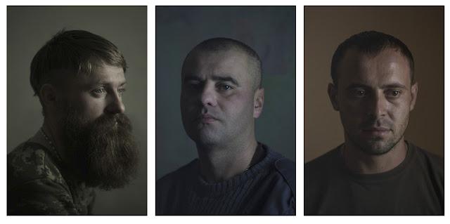 portrety żołnierzy ukraińskich