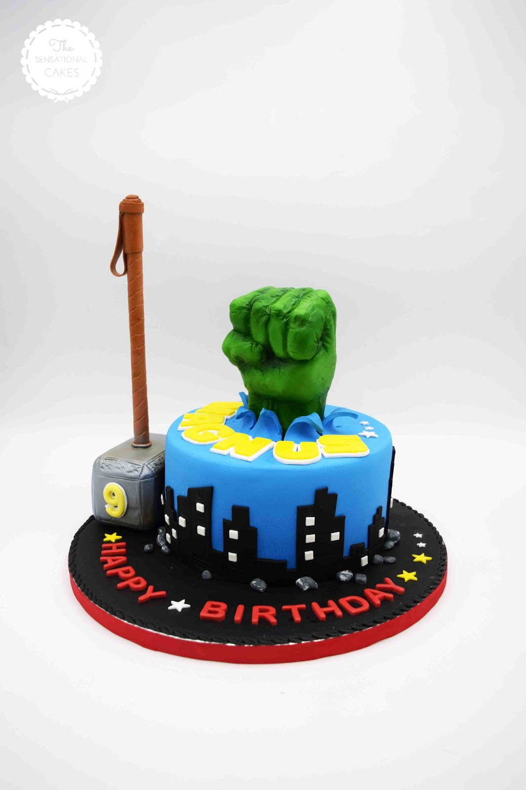 The Sensational Cakes Thor And Hulk Avengers Inspired Theme Boy