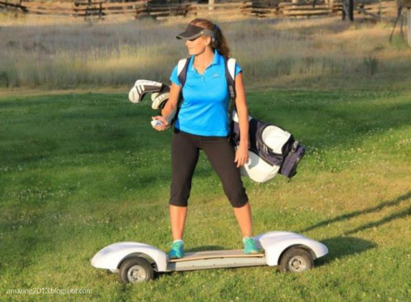 Golfboard Is Electric Skateboard Style Golf Cart For New Age Golfers