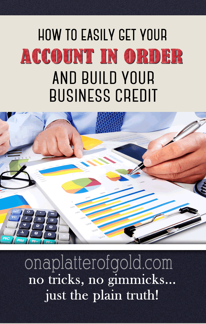 Super Easy Ways To Get Your Accounts In Order And Build Your Business Credit
