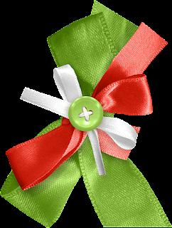 Botones y Lazos del Clipart Dulce Navidad.